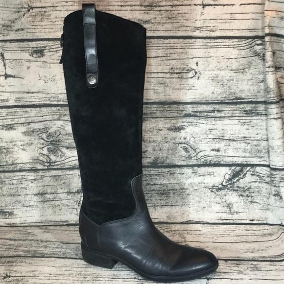 c18c20aecfb6 Sam Edelman Pembrooke Suede Leather Riding Boots. M 5b280843df0307d768dda39e